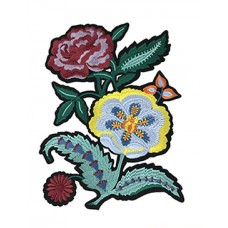 Embroidery flower patch