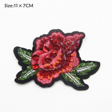 sequin bead flower patch