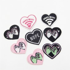 Embroidery heart patches